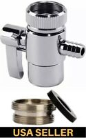 """Faucet Diverter Valve Reverse Osmosis/Water Filters 1/4"""" Barb & Adapter Ring"""
