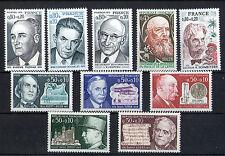 France 10 timbres non oblitérés gomme**  14 Célébrités