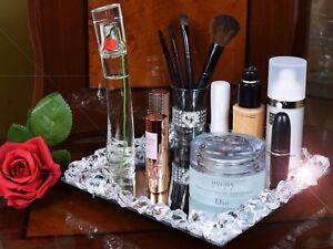 Crystal Diamante Makeup tray organiser Cosmetic Organiser Makeup Brush Holder