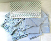 Mixed Fabric Pattern Bag Flour Sack Feedsack Pillow Quilt Sewing Material Lot 6