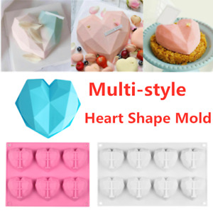 3D Love Heart Shaped Silicone Bakeware Mould DIY Chocolate Ice Jelly Baking Mold