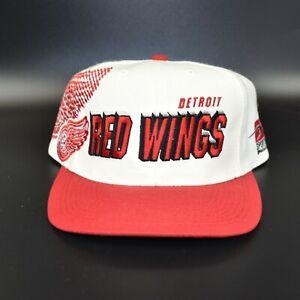 Detroit Red Wings Sports Specialties Laser Shadow Vintage 90's Snapback Cap Hat