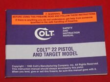 COLT Firearms Factory Cadet .22 Manual Original 1995