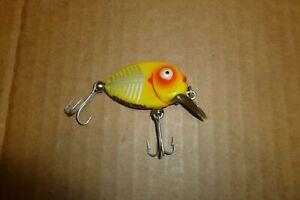 HEDDON 380 XRY TINY PUNKINSEED WHITE EYE YELLOW SHORE MINNOW VINTAGE FISH LURE