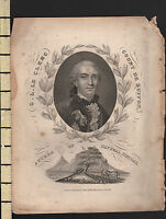 1828 Datato Antico Stampa ~ Georges-Louis Leclerc Comte De Buffon Naturale