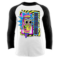 Official RICK AND MORTY Baseball Shirt Pop Culture Wubba Lubba Dub Dub  M L XL