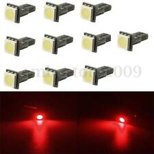 10Pcs Red T5 5050 286 SMD Non Canbus Gauge LED Wedge Bulbs Car Dashboard Light