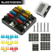 6Way Fuse Box Block Holder Blade Terminal Circuit With 2 Spare Hole for Car Boat