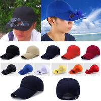 2019 Sport Outdoor Hat Cap with Solar Sun Power Cool Cooling Fan &Hip-Hop Hat