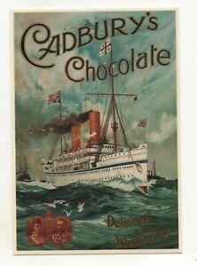 Modern Postcard: Vintage Cadbury's Chocolate Advert (S.S. Ophir). Mayfair, CC548