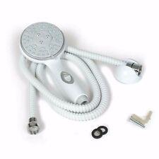 RV Shower Head Kit Hose Faucet Water Spray Massage Motorhome Camper Bath White