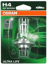 1 h4 OSRAM peras faros luz 12v lámparas halógenas lámpara ultra Life p43t