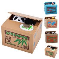 Panda Stealing Coin Money Cat Panda Penny Cents Piggy Bank Saving Box Kids Gift