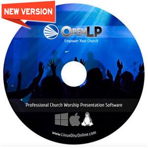 NEW & Fast Ship! OpenLP Church Worship Presentation Bible Software Windows Disc