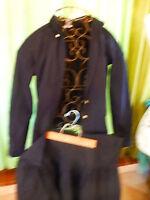 T36==LOT 2piéces noires ,jupe a terminer taille et corsage  t b état  a saisir !