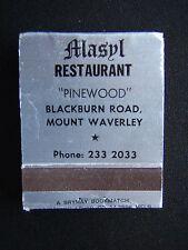 MASYL RESTAURANT PINEWOOD BLACKBURN RD MOUNT WAVERLEY 2332033 MATCHBOOK
