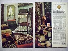 1978 Magazine Advertisement Page Sears Bedroom Furniture Towels Woman 2 PG Ad