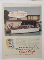 Original Print Ad 1944 CHRIS-CRAFT Buy War Bonds DeLuxe Enclosed Cruiser