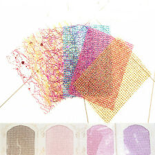 Glitter Line 3D Nail Stickers Net Mesh Tattoo Manicure Decor Tips Charming Nails