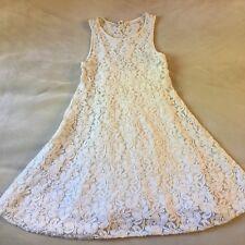 40f235d0b4 Free People Two Piece Mini Dress Tank Lace Stretch Cream XS Summer Beach  Aline S
