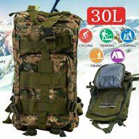 30L Outdoor Military Rucksacks Tactical Backpack Camping Hiking Trekking Bag WF