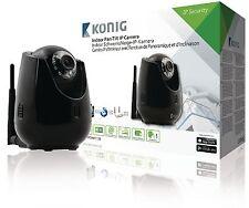 Telecamera IP pan-tilt nera per interni per la videosorveglianza a distanza