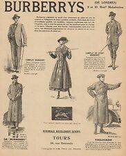 Y9434 Abbigliamento BURBERRYS - Pubblicità d'epoca - 1918 Old advertising