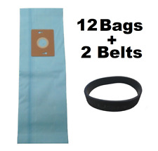 12 Vacuum Bags For Riccar Supralite Simplicity Freedom Style F F3500 + 2 Belts