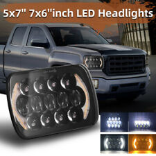 "A Pair 7x6"" 5x7 LED Headlights Headlamp Upgrade for Sterling LT9500 A9500 Trucks"