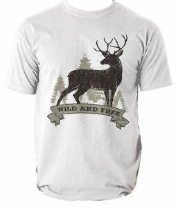 Shirt T Deer S Stag Head Elk Xxl Adult Nature Bnwt Wildlife Woodland Top  s-3xl