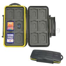 Waterproof Shockproof Storage Memory Card Case For 12 SD +12 Micro SD Cards