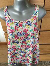 Crew Neck Chiffon Floral Sleeveless Tops & Shirts for Women