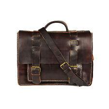 Aktentasche Schultasche Lehrertasche Umhängetasche Leder-Tasche Vintage 24 NEU!