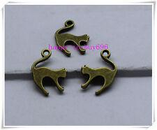 20pcs 19x14mm Antique bronze copper alloy lovely delicate cat Charm pendant
