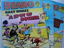 Vintage Beano Comic Library magazine books x 3 nos. 200 60 50 1984 1990