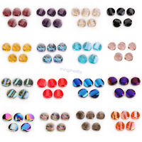 10 Faceted Glass Crystal Spacer Loose Spacer Bead Jewelry Making Finding 14mm