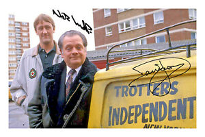 Del Boy and Rodney Signed A4 Photo Print David Jason Only Fools and Horses