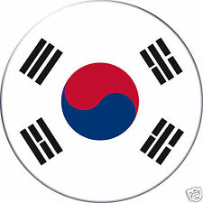 5 x sticker 5cm auto moto velo valise pc portable drapeau Rond Corée-du-Sud