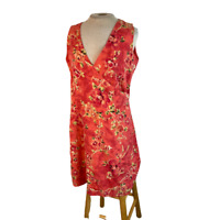 Tommy Bahama Silk Floral Mini Dress Cross Front Pink Size 10 Has a Flaw