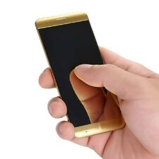 Gold Color Ultrathin Metal Anica A7 Cellphone With MP3 Bluetooth Dual SIM Mobile