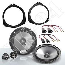 FIAT Grande Punto Lautsprecherring + Adapter + 2 Wege Boxen Komponenten System