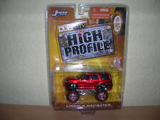 Jada Toys Dub City Lincoln Navigator Metallic rot red High Profile, 1:64