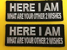 MORALE patch HERE I AM What are your other 2 Wishes  patches christmas gift 1094