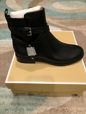 NIB $165 MICHAEL KORS Preston Black Leather Ankle Boot Sz 6.5M