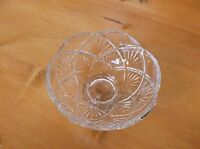 Beautiful Lead Crystal Footed Candy Bowl/Serving Dish *MINT*