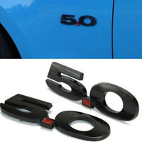 2pcs 5.0 Mustang 3D Emblem Ford Shelby GT Sticker Auto Car schwarz 5.0 Aufkleber