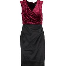 New Adrianna Papell Dress Burgundy / Black Size UK14  RRP $139