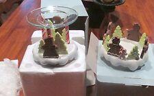Partylite Peppermint Delight Pillar Holder & Melt Warmer~ Gingerbread Set #2