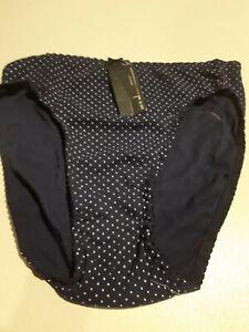 ^^Ladies<>Navy White- Polka Dot -Cotton > Full Brief<>ED-IT-ED<>SIZE 14-16///