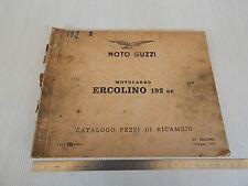 MANUALE ORIGINALE CATALOGO PARTI DI RICAMBIO 1961 MOTO GUZZI ERCOLINO 192 cc